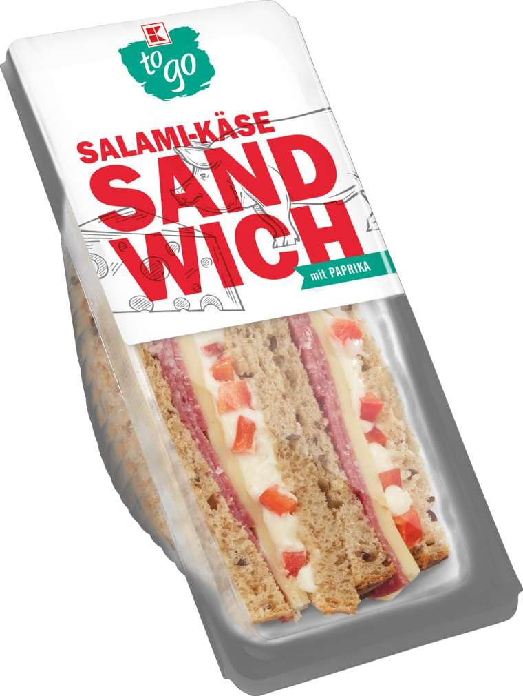 Abbildung des Sortimentsartikels K-To Go Sandwich Salami-Käse 185g