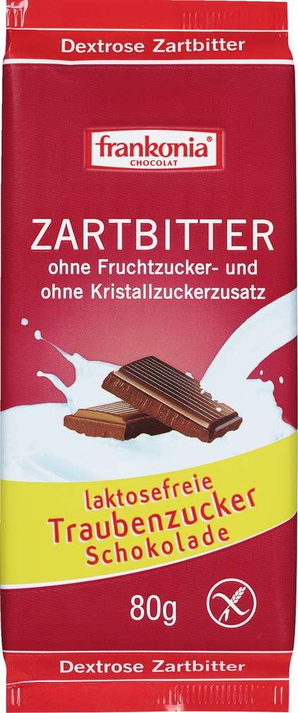 Abbildung des Sortimentsartikels Frankonia Chocolat Schokolade Zartbitter gluten-u.laktosefrei 80g