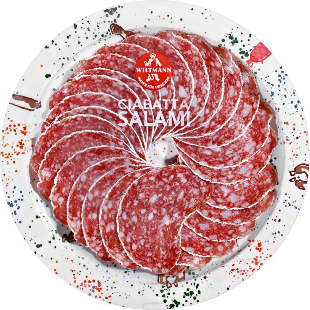 Abbildung des Sortimentsartikels Wiltmann Ciabatta Salami 80g