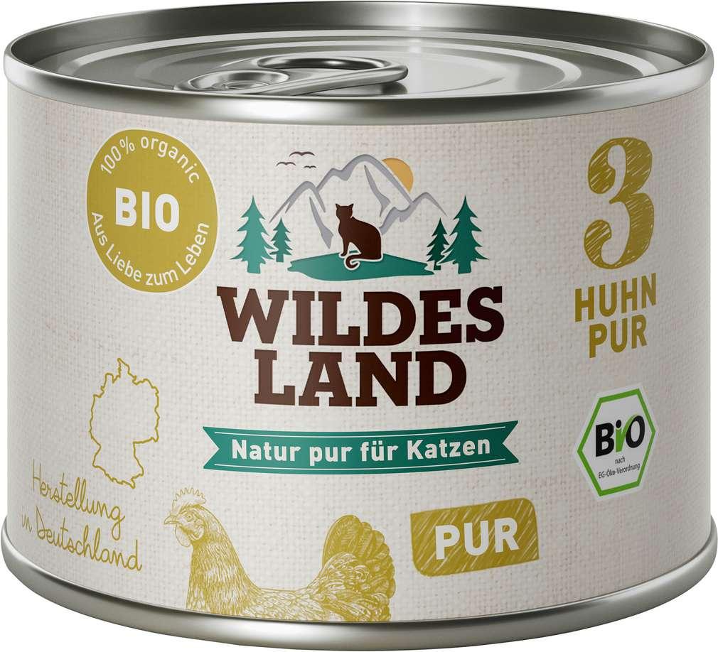 Abbildung des Sortimentsartikels Wildes Land Bio Huhn Pur 200g