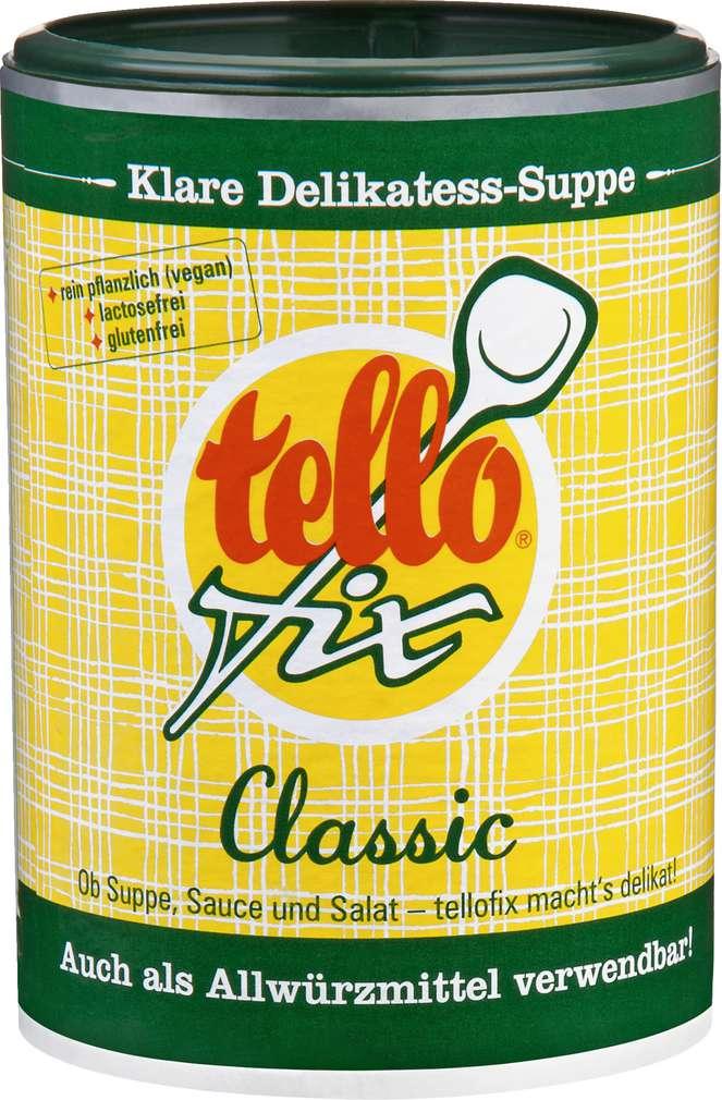 Abbildung des Sortimentsartikels Tellofix Klare Delikatess Suppe Classic 220g