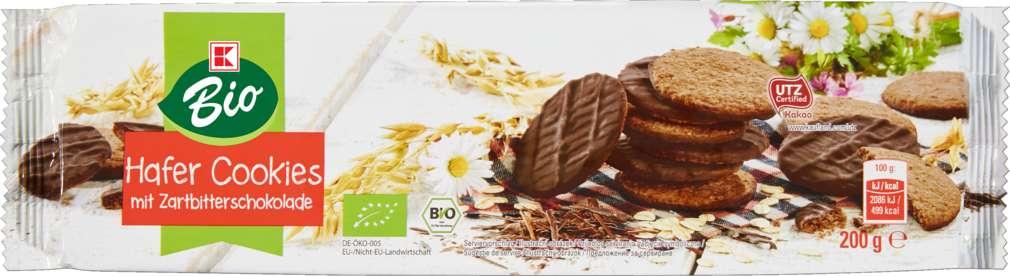 Abbildung des Sortimentsartikels K-Bio Hafer-Cookies Zartbitter 200g
