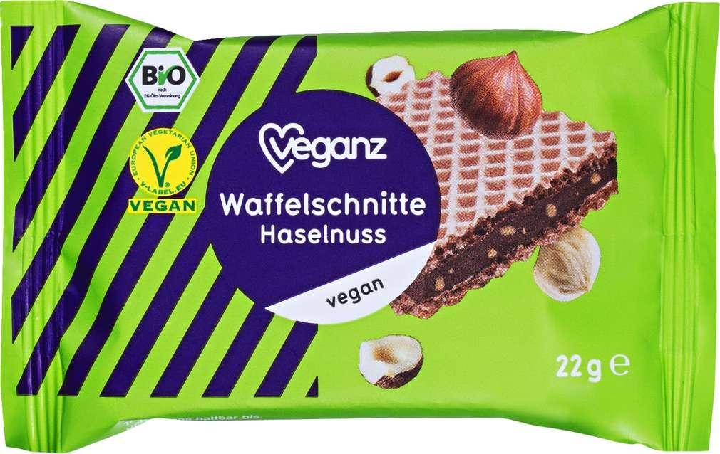 Abbildung des Sortimentsartikels Veganz Bio-Waffelschnitte Haselnuss vegan 22g