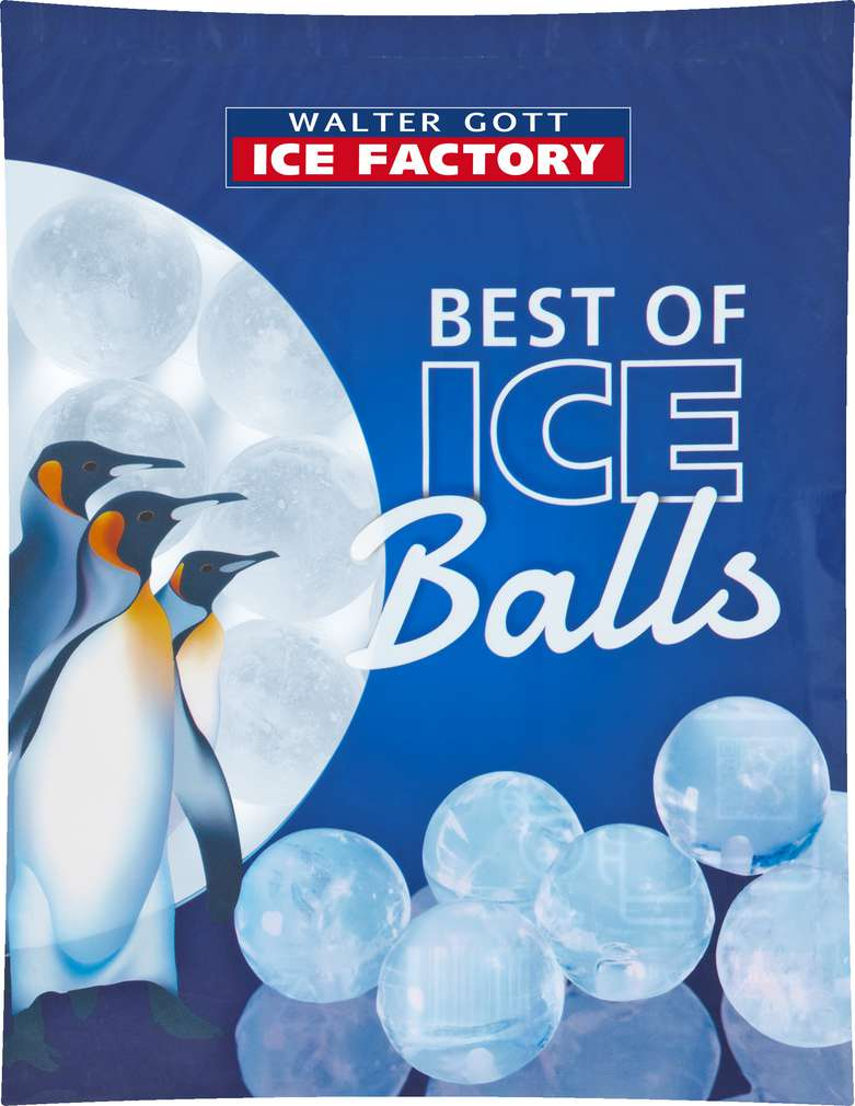 Abbildung des Sortimentsartikels Walter Gott Ice Factory ICE Balls 1kg
