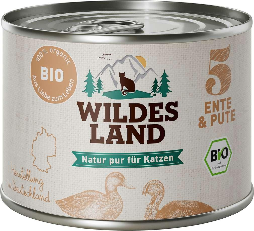 Abbildung des Sortimentsartikels Wildes Land Bio Ente & Pute 200g