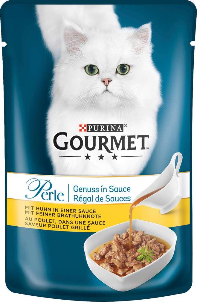 Abbildung des Sortimentsartikels Gourmet Perle Huhn in Sauce 85g