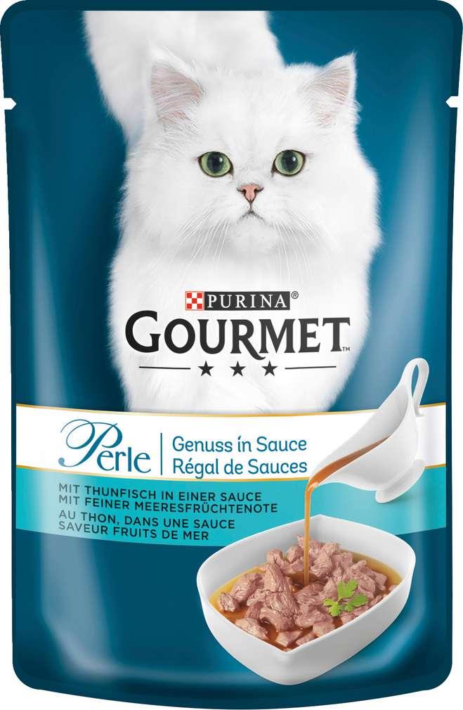 Abbildung des Sortimentsartikels Gourmet Perle Thunfisch in Sauce 85g