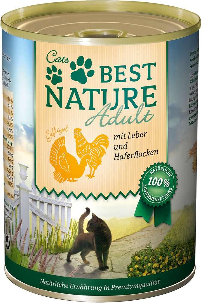 Abbildung des Sortimentsartikels Best Nature Katzennahrung Geflügel/Leber 400g