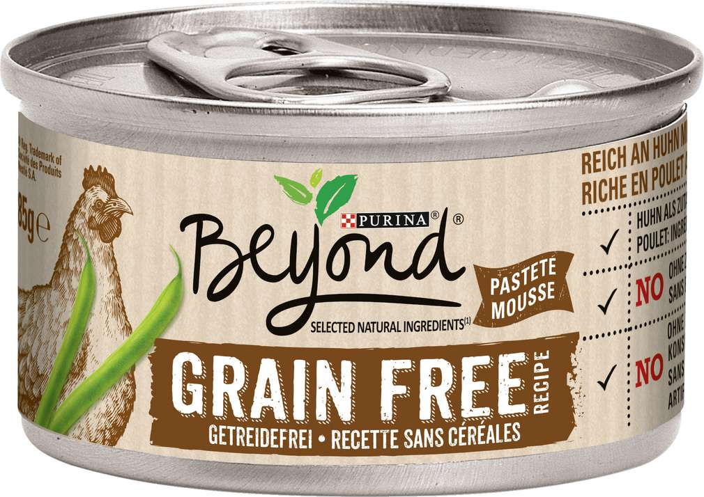 Abbildung des Sortimentsartikels Beyond Katzennahrung Getreidefrei Huhn grüne Bohnen 85g