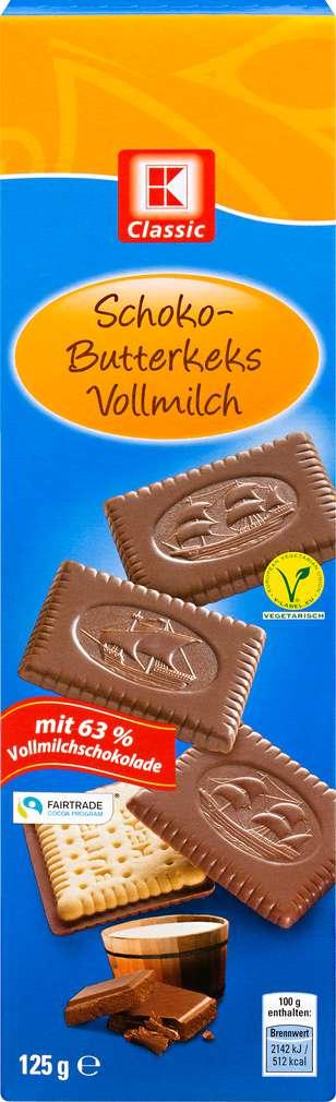 Abbildung des Sortimentsartikels K-Classic Schoko-Butterkeks Vollmilch 125g