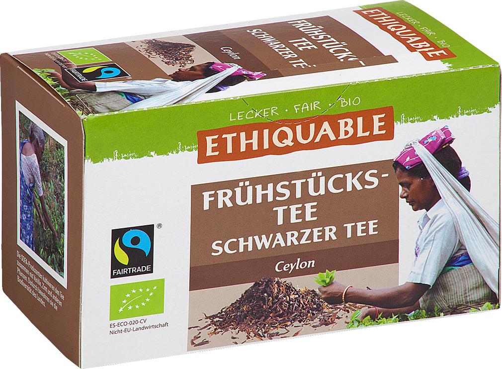 Abbildung des Sortimentsartikels Ethiquable Frühstückstee Schwarzer Tee Ceylon 20x1,8g