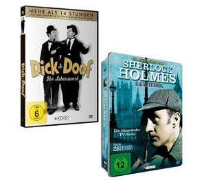 Abbildung des Angebots DVD-Box Sherlock Holmes oder Dick & Doof