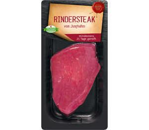 Abbildung des Angebots K-PURLAND Rindersteak vom Jungbullen, gereift, zum Kurzbraten