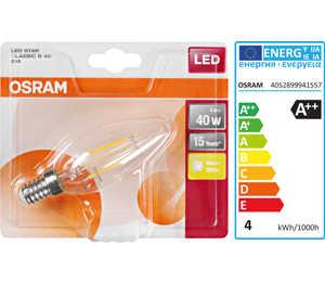 Abbildung des Angebots OSRAM LED-Kerze Filament E14 4 W