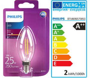 Abbildung des Angebots PHILIPS LED-Kerze Filament E14 2 W
