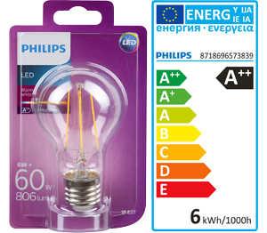 Abbildung des Angebots PHILIPS LED-Birne Filament E27 6 W
