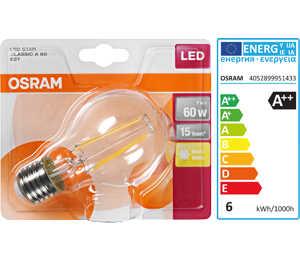 Abbildung des Angebots OSRAM LED-Birne Filament E27 7 W