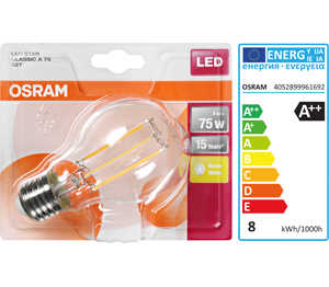 Abbildung des Angebots OSRAM LED-Birne Filament E27 8 W