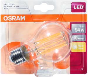 Abbildung des Angebots OSRAM LED-Birne Filament E27 11 W