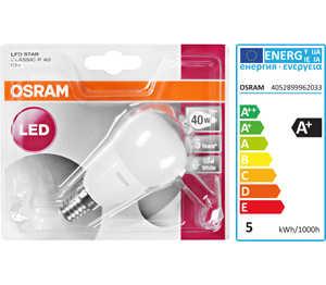 Abbildung des Angebots OSRAM LED-Tropfen E14 matt 5 W