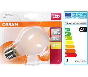 Abbildung des Angebots OSRAM LED-Birne E27 matt 8 W