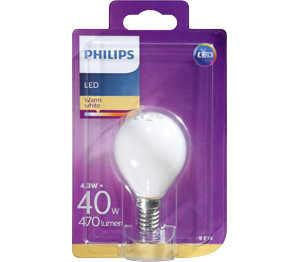 Abbildung des Angebots PHILIPS LED-Tropfen E14 matt 4,3 W