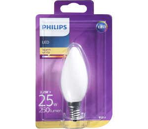 Abbildung des Angebots PHILIPS LED-Kerze E14 matt 2,2 W