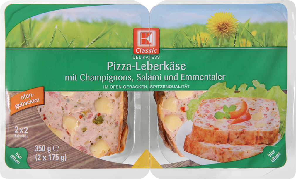 Abbildung des Angebots K-CLASSIC Geflügel- od. Pizzaleberkäse