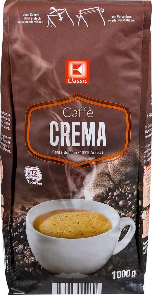 Abbildung des Angebots K-CLASSIC Kaffee ganze Bohne