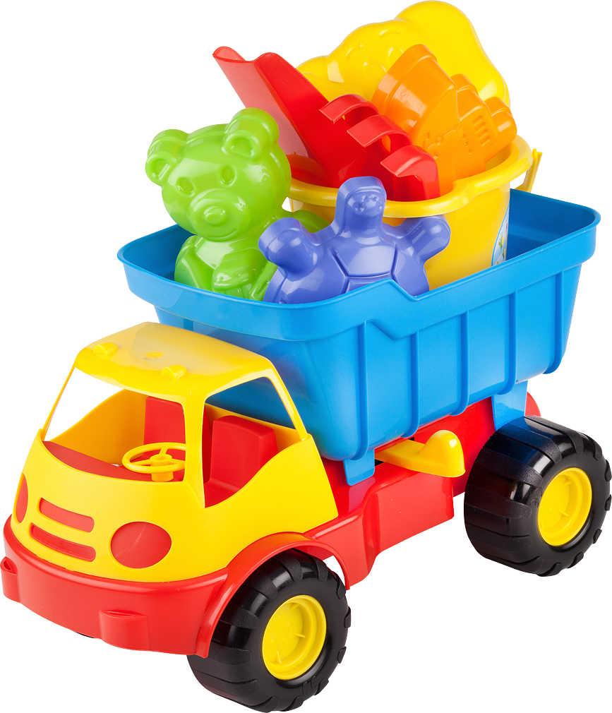 12 x Sand-LKW Sandspielzeug-Set 7tlg Strandspielzeug Lastwagen 22 cm Förmchen Business & Industrie