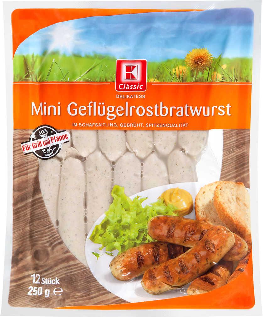 Abbildung des Angebots K-CLASSIC Mini Geflügel-Rostbratwurst