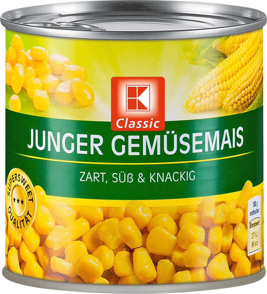 Abbildung des Angebots K-CLASSIC Junger Gemüsemais