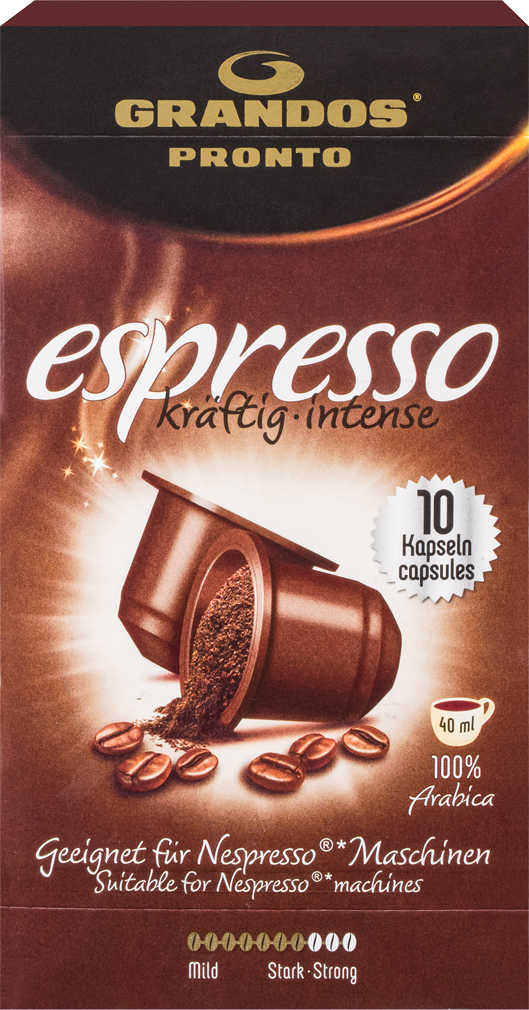 Abbildung des Angebots GRANDOS Pronto Kaffeekapseln