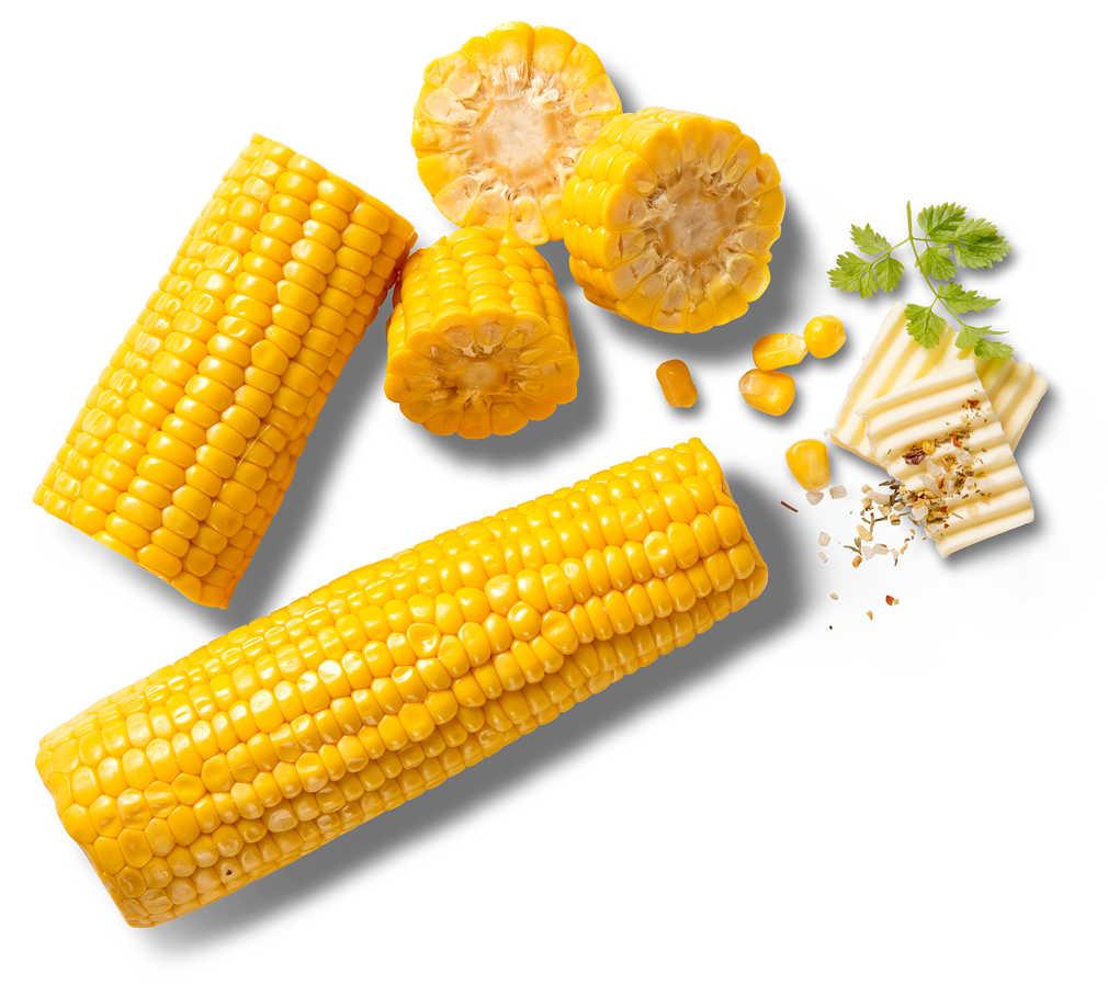 Abbildung des Angebots deutscher Zuckermais