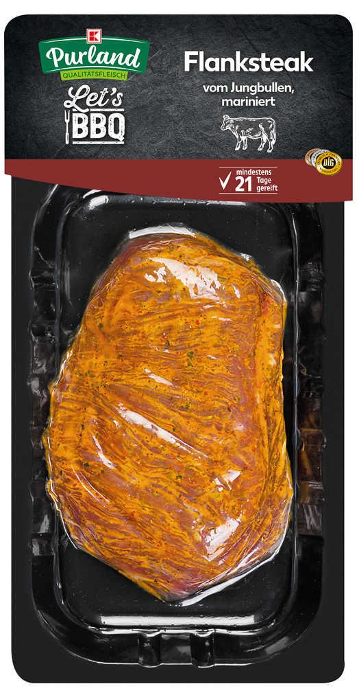 Abbildung des Angebots K-PURLAND Flank Steak vom Jungbullen, mariniert