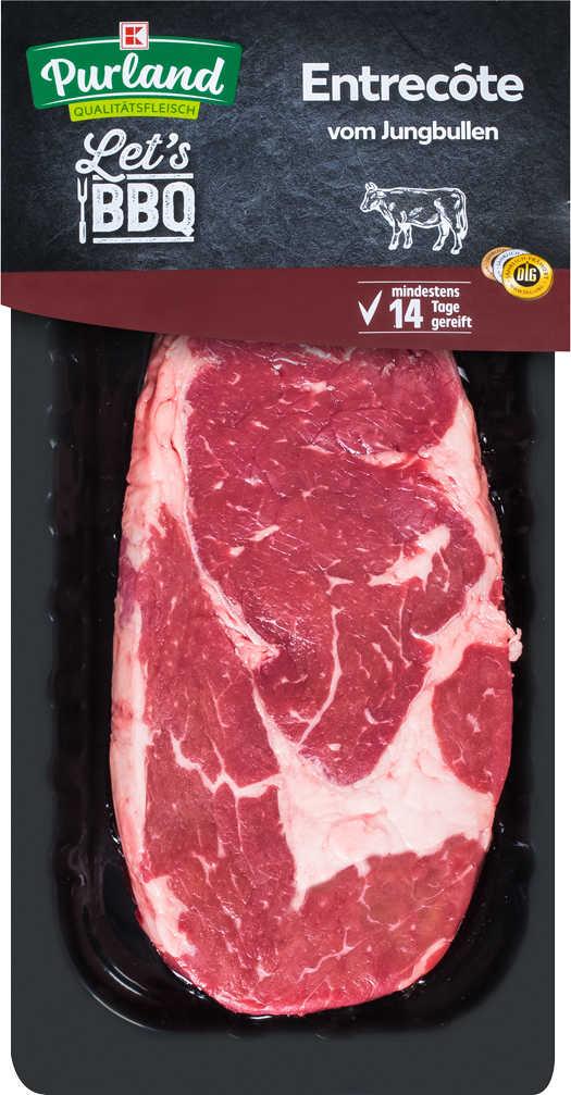 Abbildung des Angebots K-PURLAND Entrecôte vom Jungbullen, saftiger Steakgenuss