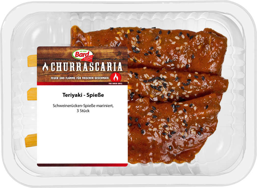 Abbildung des Angebots BARD CHURRASCARIA Teriyaki-Spieße, mariniert