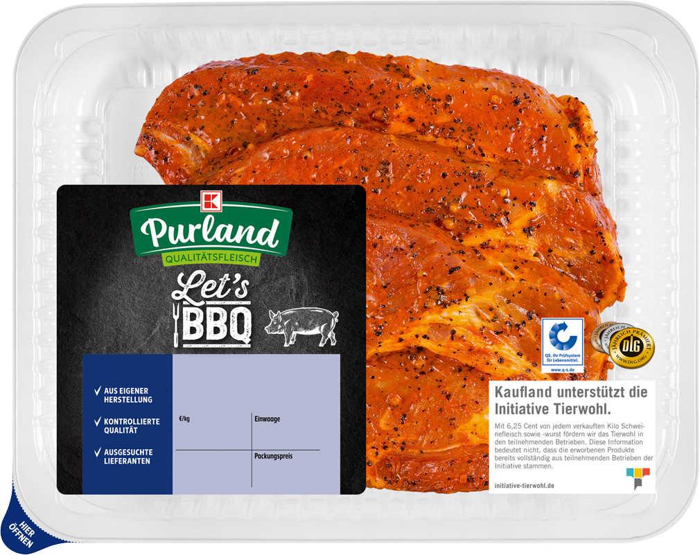 Abbildung des Angebots K-PURLAND Schweinenacken/-kammkotelett mariniert