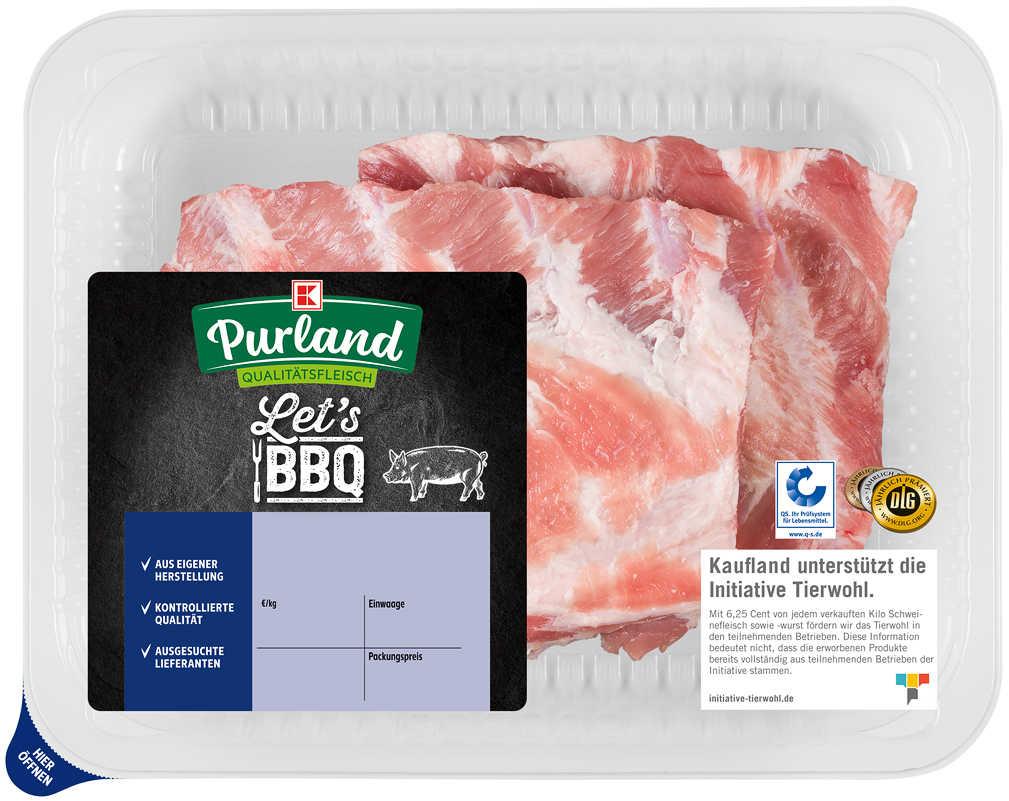Abbildung des Angebots K-PURLAND Schälrippchen/Spareribs vom Schwein, natur