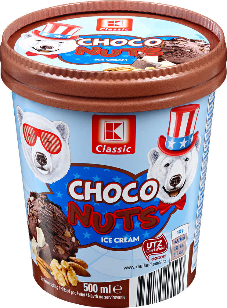 Abbildung des Angebots K-CLASSIC Choco Nuts oder Caramel Choc Eiscreme