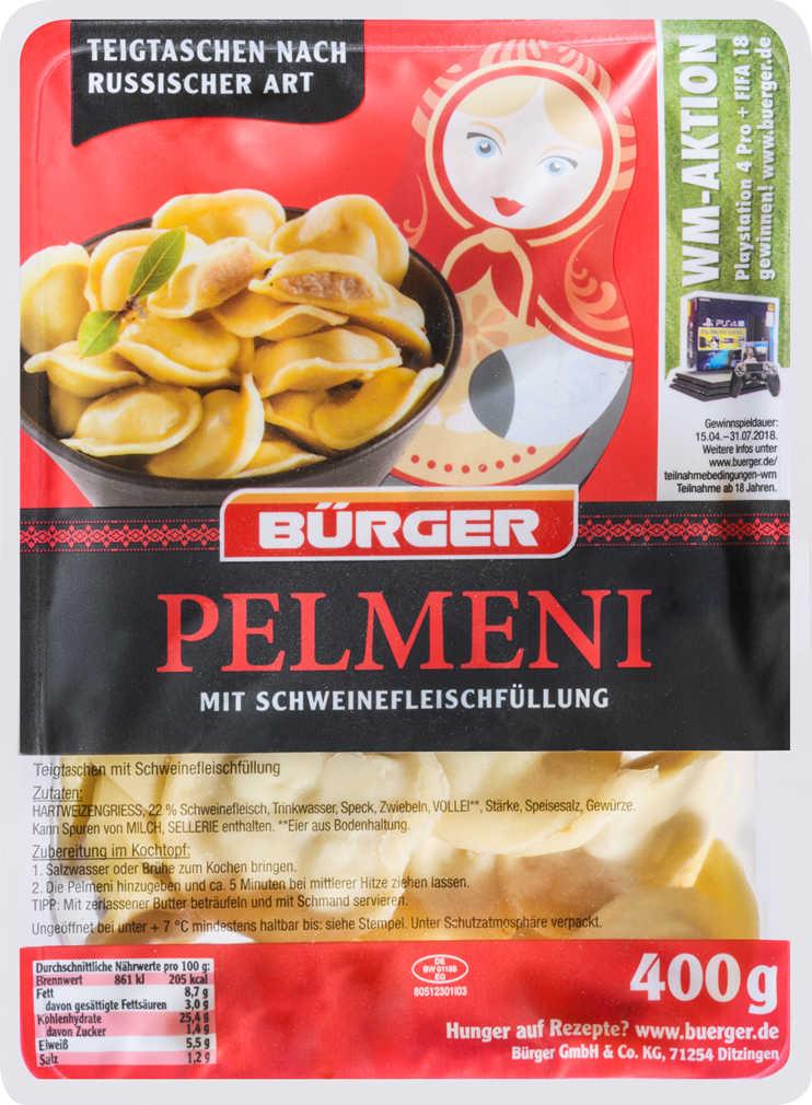Abbildung des Angebots BÜRGER Pelmeni oder Wareniki