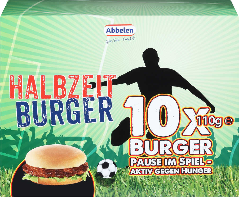 Abbildung des Angebots ABBELEN Halbzeit-Burger