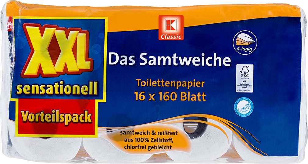 Abbildung des Angebots K-CLASSIC Samtweiche Toilettenpapier