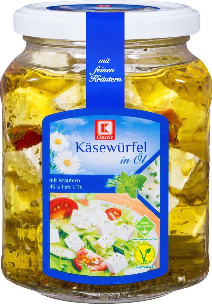 Abbildung des Angebots K-CLASSIC Käsewürfel in Öl