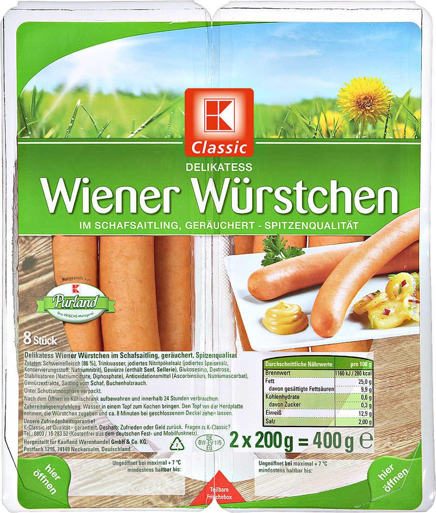 Abbildung des Angebots K-CLASSIC Delikatess-Wiener