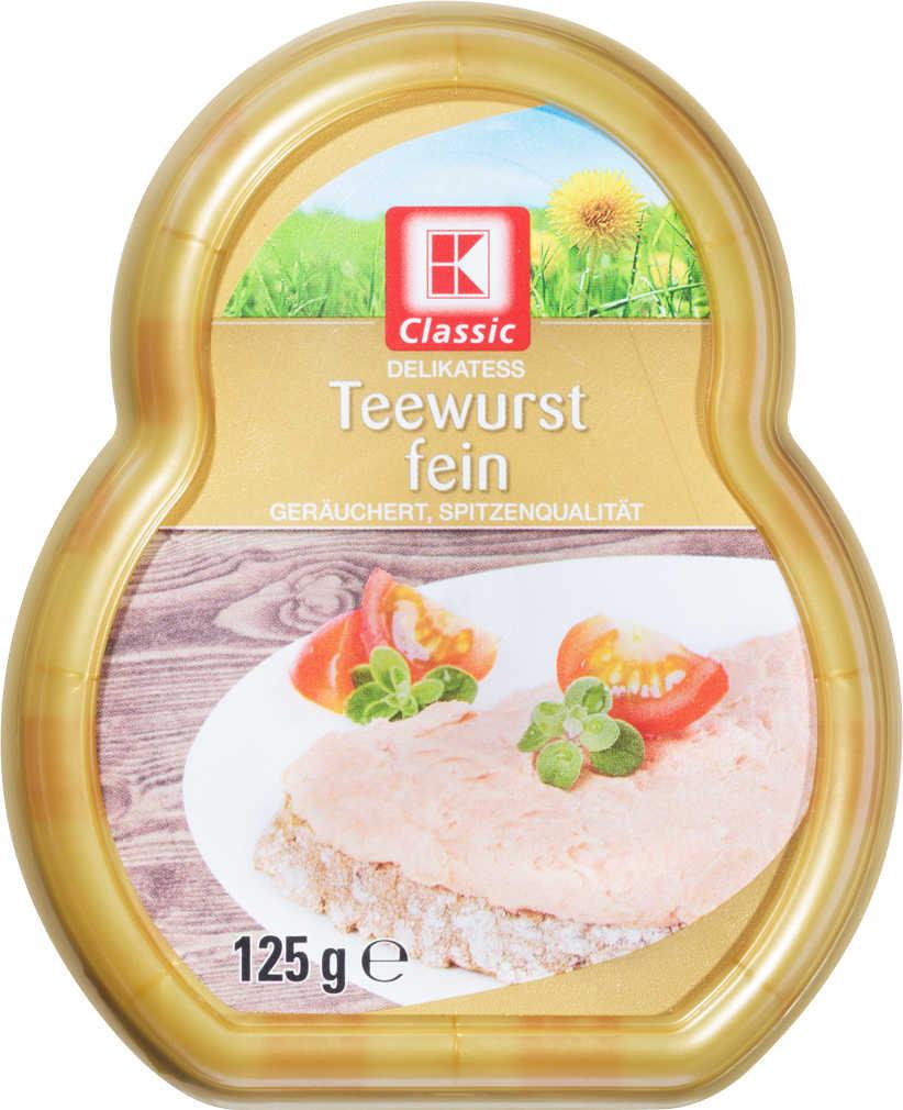 Abbildung des Angebots K-CLASSIC Teewurst fein, grob oder light