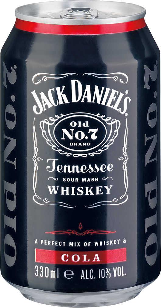 Abbildung des Angebots JACK DANIEL'S Tennessee-Whiskey mit Cola oder mit Lynchburg Lemonade
