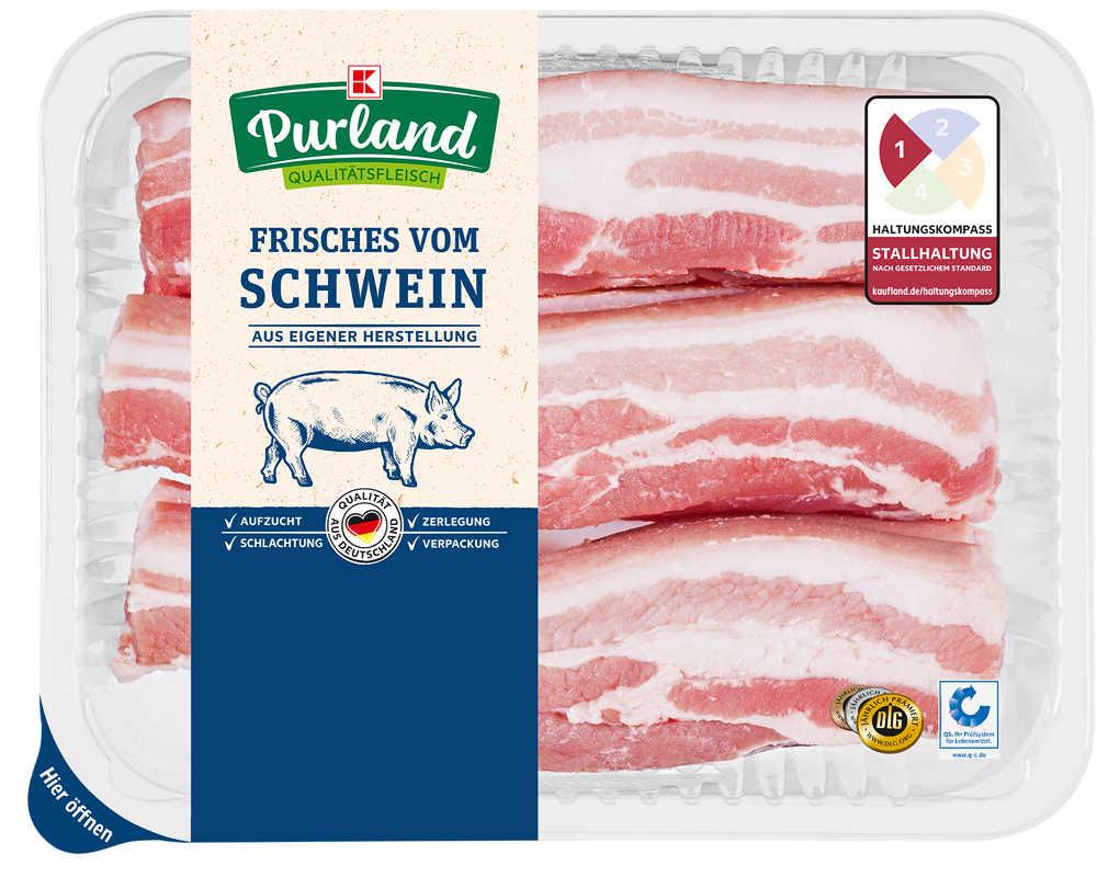 Abbildung des Angebots K-PURLAND Schweinebauchscheiben natur