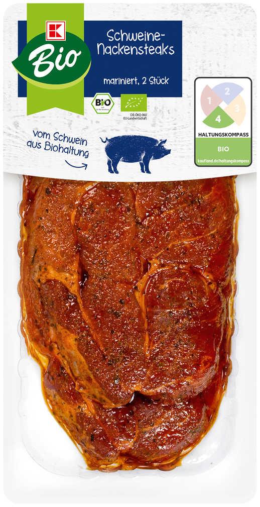 Abbildung des Angebots K-BIO Schweine-Nackensteaks