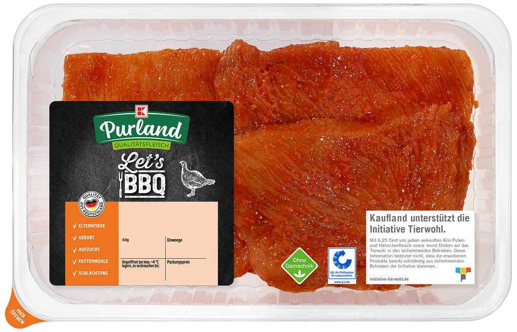 Abbildung des Angebots K-PURLAND Puten-Schnitzel in BBQ-Marinade